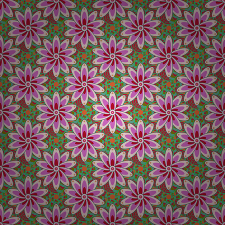 motley: Motley seamless pattern. Vector abstract flower background. Pretty floral print with small flowers. Illustration
