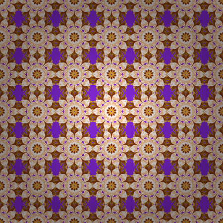 motley: Multicolor ornament of small simple flowers, vector abstract seamless pattern for fabric or textile design. Illustration