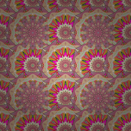 rare: Hand drawn floral texture, decorative flowers. Vector seamless colorful floral pattern.