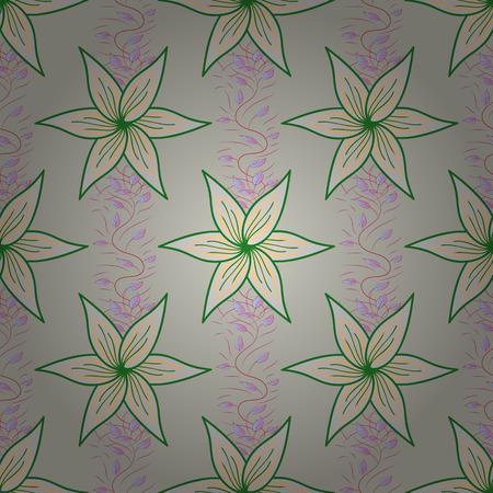 부족의 예술 boho 인쇄, 빈티지 꽃 배경입니다. 배경 질감, 스케치, 색상에서 꽃 테마. 추상 민족 벡터 원활한 패턴입니다.
