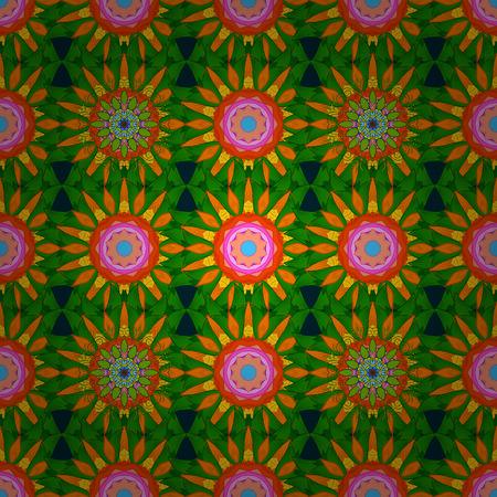 Vector illustration. Abstract Mandala on a background. Illustration