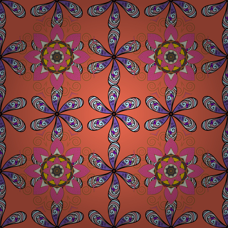 벡터 추상 꽃 배경입니다. 많은 작은 꽃과 원활한 패턴입니다. 원활한 플로랄 패턴입니다.