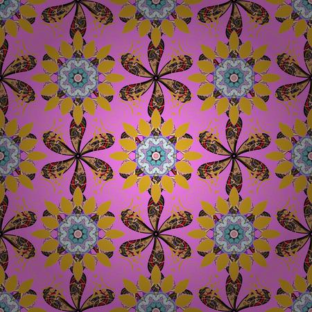 배경 질감, 스케치, 핑크 색상에서 꽃 테마. 추상 민족 벡터 원활한 패턴입니다. 부족의 예술 boho 인쇄, 빈티지 꽃 배경입니다.