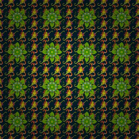 작은 꽃과 예쁜 꽃 프린트. 잡종 원활한 패턴. 벡터 추상 꽃 배경입니다.