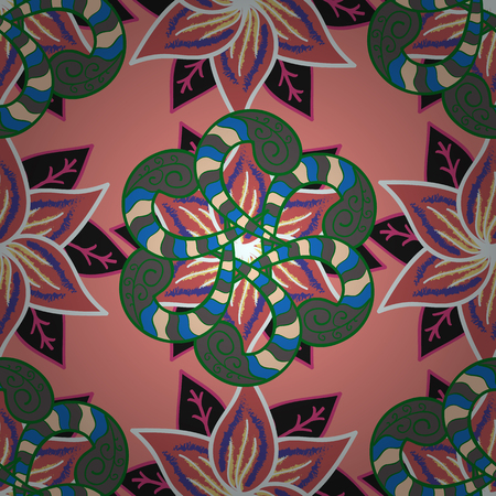 motley: Pretty floral print with small flowers. Motley seamless pattern. Vector abstract flower background. Illustration