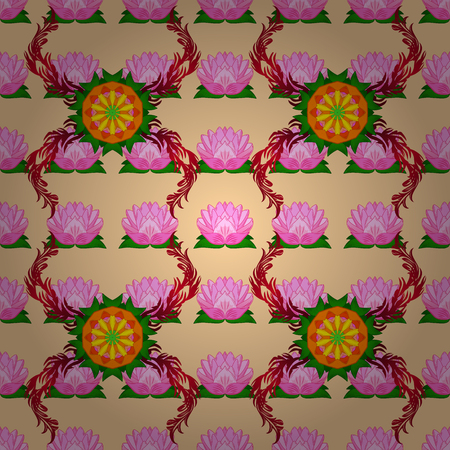 Leaf natural pattern in colors. Vector flower concept. Summer design. Seamless floral pattern can be used for sketch, website background, wrapping paper.