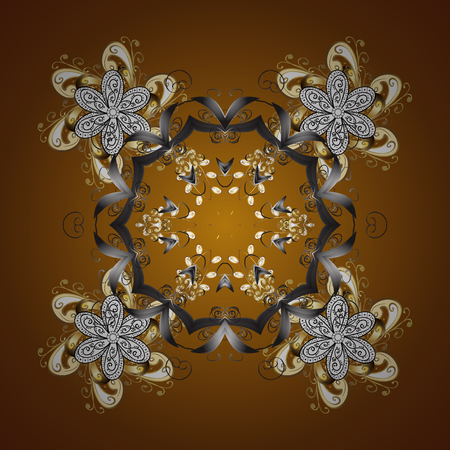 Vector ethnic mandalas, doodle background circles. Background.