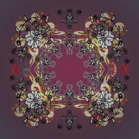 Abstract ornamental with Floral Elements. Vector winter pattern. Ornamental design on background. Ilustrace