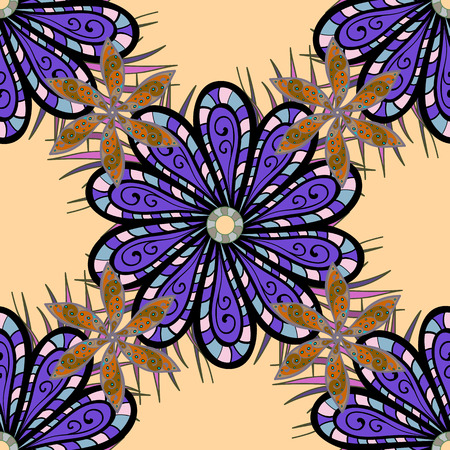Vector abstract flower background. Pretty floral print with small flowers. Motley seamless pattern. Иллюстрация
