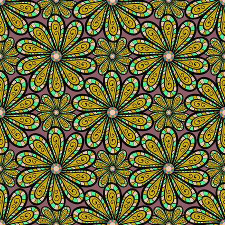 Vector islamic template for restaurant menu, flyer, greeting card, brochure, book cover and any other decorations. Decorated card with mandala in colored colors on a colors background. Illustration