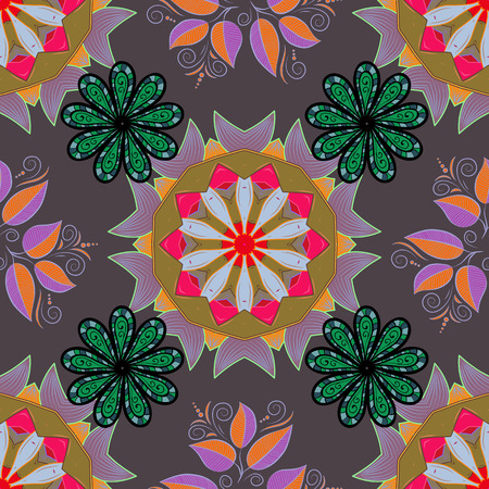 motley: Vector abstract floral background. Seamless pattern with many small flowers. Seamless floral pattern. Illustration
