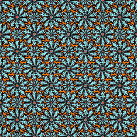 nobby: Vector illustration with many flowers. Trendy seamless floral pattern.