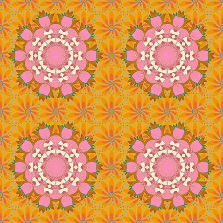 Arabic Vintage decorative ornament. Vector Mandala pattern on colorful background. East, Islam. Mandala colored background.