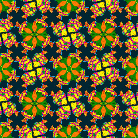 motley: Summer design. Leaf natural pattern in colors. Vector flower concept. Seamless floral pattern can be used for sketch, website background, wrapping paper. Illustration