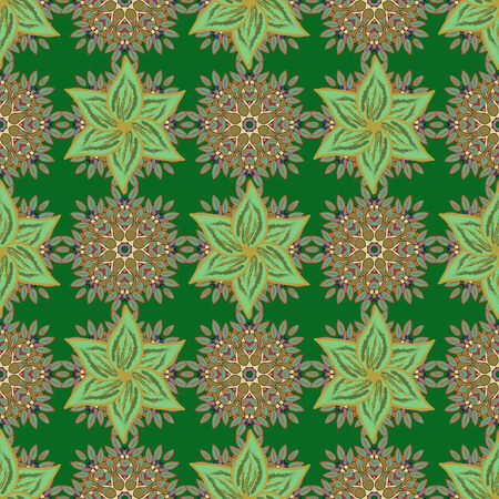 motley: Vector illustration of flowers. Seamless pattern with flowers on motley background. Illustration