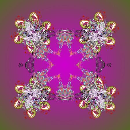 Snowflake vector design on background. Ornamental pattern. Snow flakes background. Illustration