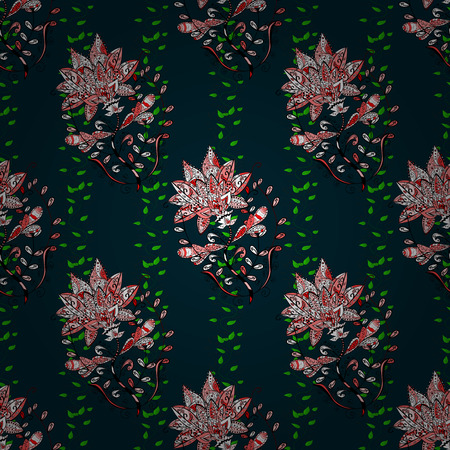 lay: Vintage vector floral seamless pattern in colors. Illustration