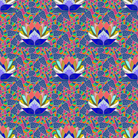 Cute Floral pattern in the small flower. Fashionable fabric pattern. Vector illustration. Seamless Tony fabric pattern.