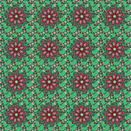 rare: Seamless pattern abstract floral background. Vector sketch of many abstract flowers in colors. Hand drawn seamless flower illustration.