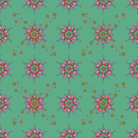 Vector cute pattern in small flower. Spring floral background with blue flowers. The elegant the template for fashion prints. Small colorful flowers. Motley illustration. Illustration