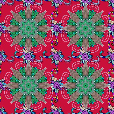 Yoga logo, background for meditation poster. Anti-stress mandala. Decorative colored round ornament. Indian flower mandala. Oriental flourish vector. Colorful mandala. Illustration