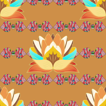 Cute Floral pattern in the small flower. Seamless Tony fabric pattern. Fashionable fabric pattern. Vector illustration. Ilustrace