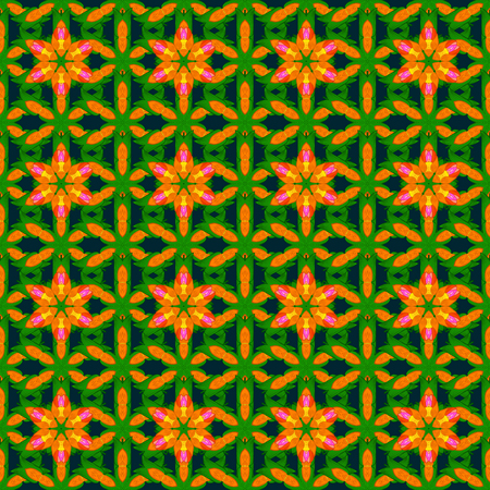 motley: Multicolor ornament of small simple pink flowers, vector abstract seamless pattern for fabric or textile design.