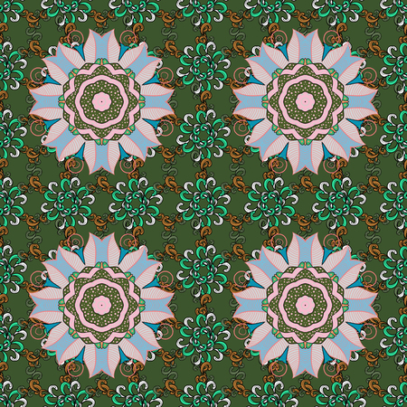 motley: Seamless pattern can be used for sketch, web page background, surface textures. Seamless pattern with flowers. Vector ornate zentangle texture, endless pattern with abstract flowers.