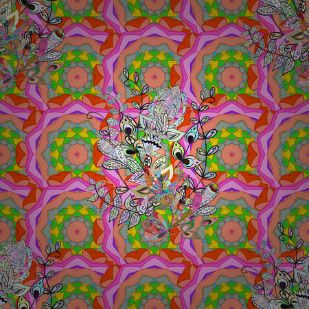 kundalini: Boho style flower seamless pattern. Vector Mandala. Background. Tiled mandala design, best for print fabric or papper and more.
