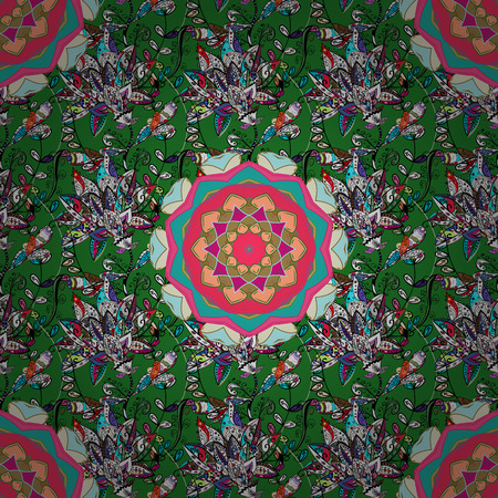 Nice fabric pattern. Beautiful watercolor Bouquet of summer flowers seamless pattern.