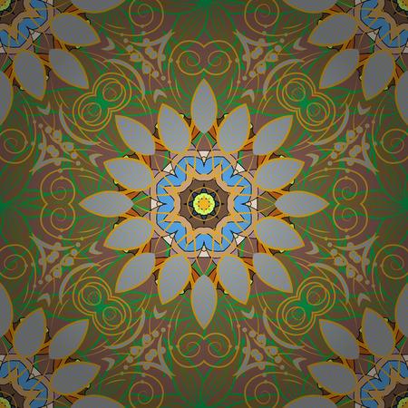 Flowers watercolor seamless pattern. Vector Stylish fabric pattern. Illustration