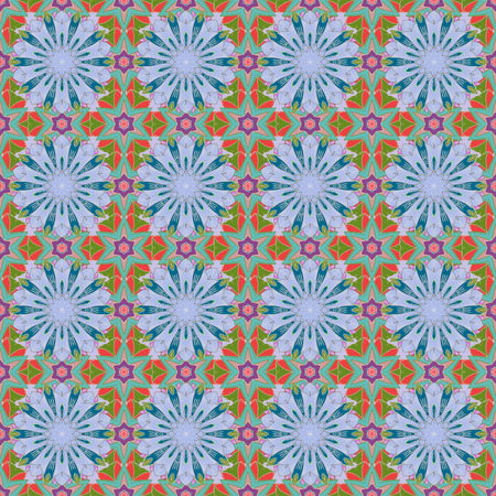motley: Watercolor hand painting of abstract flowers, seamless pattern vector background.