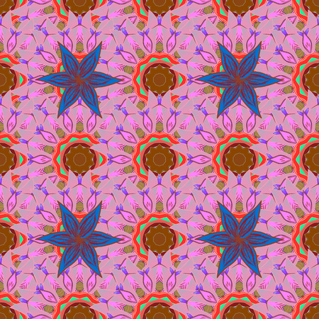 motley: Vector Hand drawn   floral background. Seamless pattern with abstract ornament.