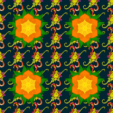 jumbled: Bag design. Hand-drawn vector mandala with colored abstract pattern on a background. Illustration
