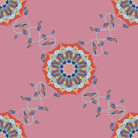 motley: Vintage vector floral seamless pattern in colors. Illustration