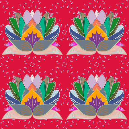 Vector illustration. Seamless Tony fabric pattern. Cute Floral pattern in the small flower. Fashionable fabric pattern. Ilustrace