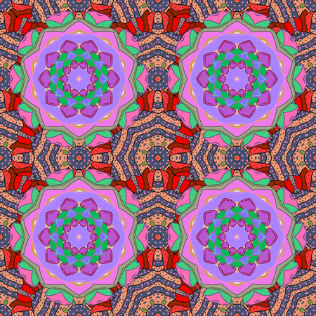 Decorative ornate round mandala. Invitation, wedding card, scrapbooking. Colored stickers, flash temporary tattoo, mehndi and yoga design, boho, magic symbol. Vintage vector pattern. Colored over.