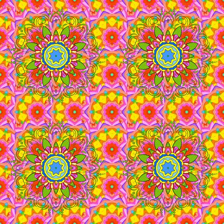 럭셔리 플로랄 패턴입니다. 라운드 꽃 장식입니다. Square 초대 템플릿. 컬러 만다라 디자인 요소와 벡터 초대장입니다. 동양 boho 세련 된 스타일에서 비정상적인 인사말입니다. 장식 빈티지 인쇄입니다.