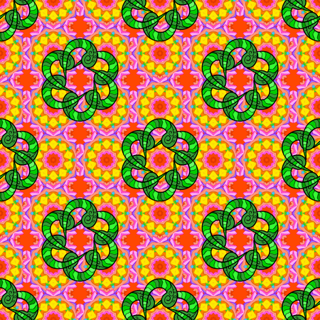 admirable: Seamless floral pattern can be used for sketch, website background, wrapping paper. Vector flower concept. Leaf natural pattern in colors. Summer design.