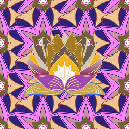 Fashionable fabric pattern. Seamless Tony fabric pattern. Vector illustration. Cute Floral pattern in the small flower.