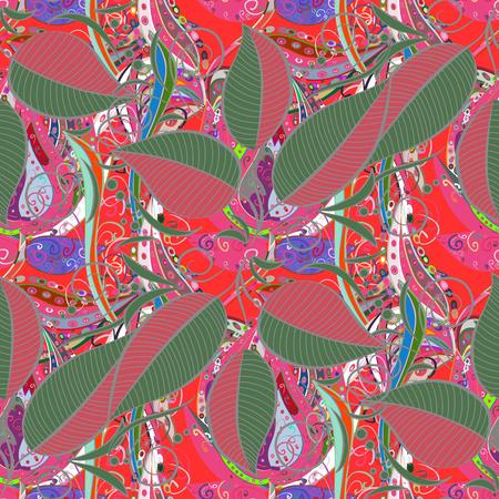 distinguished: Vector illustration. Leaf seamless background. Floral pattern. Flourish ornamental spring garden texture.