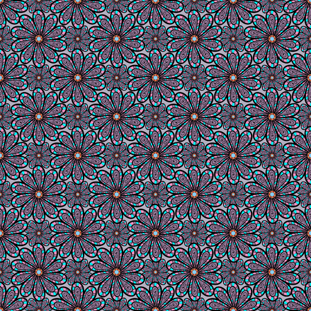 ベクトルの図。フラット フラワー要素デザイン。春のテーマのシームレスなパターンの背景色します。エレガントな花の花束水彩背景。