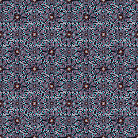 벡터 일러스트 레이 션. 평면 꽃 요소 디자인입니다. 컬러 봄 테마 원활한 패턴 배경입니다. 배경에 우아한 꽃 꽃다발 수채화입니다. 일러스트