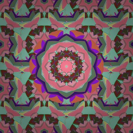 checker: Mandala colored background. East, Islam. Vector Mandala pattern on colorful background. Arabic Vintage decorative ornament. Illustration