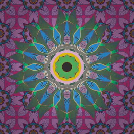 foil: Mandala. Vector gradient premium. Business identity concept for bio, eco company, yoga or spa salon. Flower on.