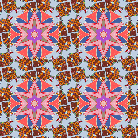 A Vector floral pattern for wedding invitations, greeting cards, scrapbooking, print, gift wrap, manufacturing fabric and textile. Elegant seamless pattern with decorative flowers in colors.