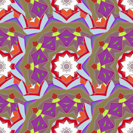 Vector Mandala. Background. Boho style flower seamless pattern. Tiled mandala design, best for print fabric or papper and more. Illustration