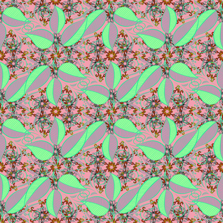checker: Abstract elegance seamless pattern with floral background. Vector Nice fabric pattern.