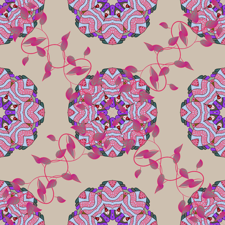 be: Indian floral paisley medallion banners. Vector ethnic Mandala ornament. Henna tattoo style on a colorfil background. Can be used for textile, greeting card, coloring book, phone case print.