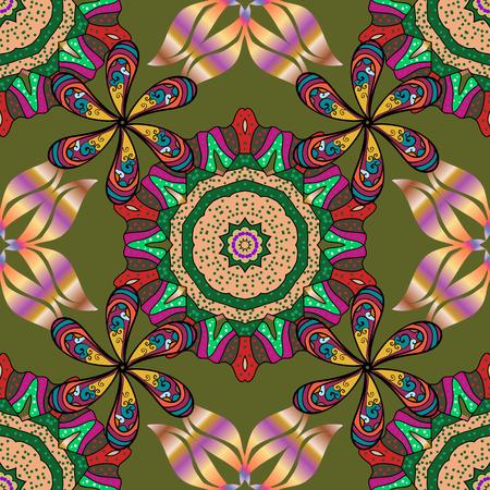 水彩花柄、繊細な花、花、グリーティング カード テンプレートをベクトルします。ベクターの美しいファブリックのパターン。  イラスト・ベクター素材